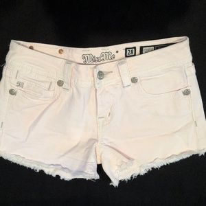 Light Pink Miss Me Jean Shorts